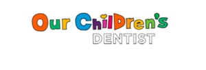 Our children's dentist logo transparent. Our children's has every letter drawn in a different color